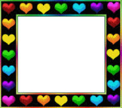 color animation hearts frame