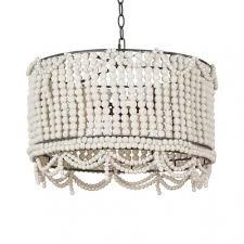 rustic style drum chandelier wooden