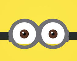 Minion face with goggles embroidery design. Large hoop sizes.