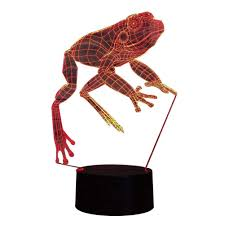 Frog Lights Led Amazon Com Carl Artbay 3d Night Light Led Frog Pattern Lamp