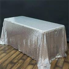 tablecloth luxury collection ss sequin silver tablecloths inch round 90 holiday checd gingham polyester linens tablecloth 90 inch round