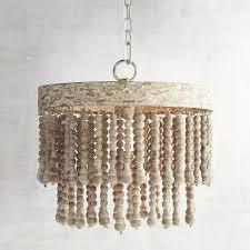 new wood bead chandelier throughout antique whitewash world market jeannerapone com