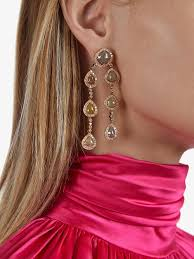 saqqara brown diamond chandelier earrings lyst view fullscreen
