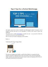 How Hard Is Web Design Top 5 Tips For A Perfect Web Design By Michelle Hummel Issuu