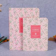 Flower Floral Diary Notebook Pu Leather Note Book Weekly Planner