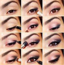 step by step pink smokey eye makeup tutorial