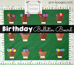 birthday bulletin board ideas for preschool