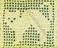 Filet Crochet Charts Extended Double Crochet Stitch