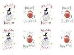 Welsh Christmas Print Out Labels Decorations