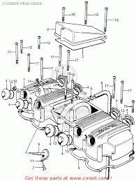 Honda cb750 four k4 1974 usa cylinder head cover parts list cylinder head cover parts list cb750 engine diagram 1973 cb750 parts diagram