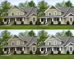 I Like The Bottom Right Oyster Bay By Sherwin Williams - Farmhouse exterior paint colors