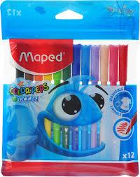 <b>Maped</b> Набор <b>фломастеров Color</b>'<b>Peps</b> Ocean смываемые 12 ...