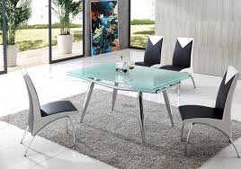Frosted glass dining table Extendable Samurai Frosted Glass Dining Table With Angel Dining Chairs Heavygadgets Samurai Frosted Glass Dining Table With Angel Dining Chairs Furniture