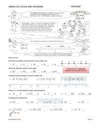 absolute value worksheet worksheets