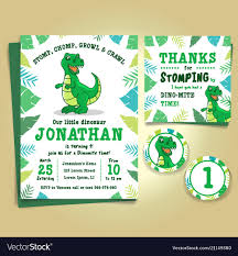 Dinosaur Birthday Invitation Dinosaur Birthday Party Invitation