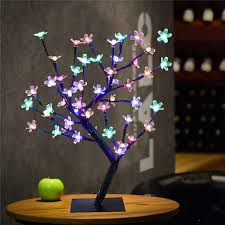 height 45cm crystal cherry blossom tree light 48 led fairy wedding decoration indoor table lamp luminarias night light