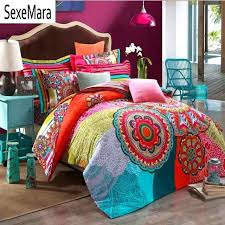 boho duvet set sanded cotton fabric cover quilt sham bedding sets queen king chic covers boho duvet set covers