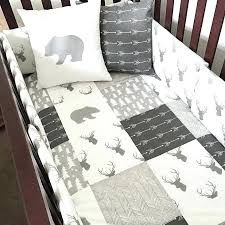 woodland animals baby bedding woodland nursery bedding in gray and white with bears arrows and deer