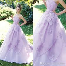 discount new unique style a line purple wedding dresses sweetheart