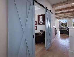 Light Blue Barn Door Blue Barn Doors Create A Whimsical Entrance For A Home