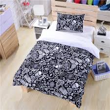 black and white bedding paisley american flag skull within comforter set queen idea 8