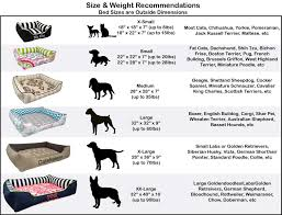 Wheaten Terrier Size Chart Navy White Stripe Bed For Dogs Or Cats Jadore Custom