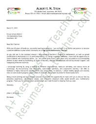Teacher Things School Sample Secondary Letter Application Teaching