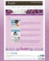 Wedding Websites With Weddingmoons Sandals Wedding Blog