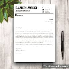 word resume template photo cover letter elisabeth lawrence mockup template resume cover letter