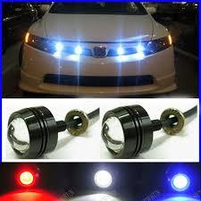 free super thin car led fog reverse light newest led eagle eye white light