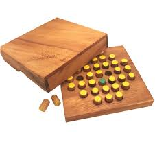 Wooden Board Game With Pegs Solitaire Pegs Strategy Wooden Game 95