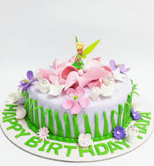 Tinkerbell Birthday Cake Tinkerbell Birthday Cakes Decorated Cakes