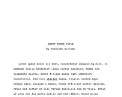 Short Templates Short Story Manuscript Template 1 0 Libreoffice Extensions And