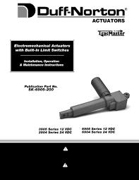 duff norton sk6905 200 owner s manual