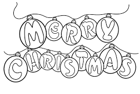Small Picture Free Printable Merry Christmas Coloring Pages