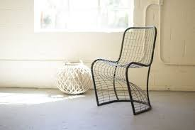 Woven metal furniture Rocker National Furniture Supply Cll2153 Woven Metal Dining Chair