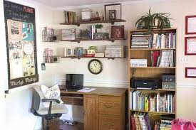 Organizing a small office Organizing Ideas Create An Organized And Thrifty Home Office Nook In Your Home With These Simple Tips On Martys Musings Create An Organized And Thrifty Home Office Nook Martys Musings