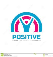 Positive Graphic Design Positive Vector Business Logo Template Concept