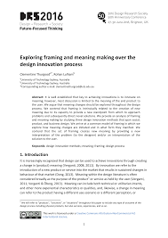Design Research Meaning Exploring Framing And Meaning Making Over The Design