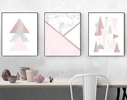 rose gold wall art stickers