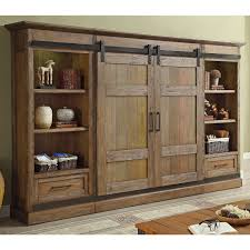parker house hpt 1063 4 hunt s point 4 piece sliding door entertainment wall unit in vine weathered pine