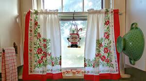 Red Curtains For Kitchen Kitchen Curtains Large Windows Red Kitchen Curtains For A
