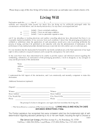 Sample Living Trust Form Free Copy Of Living Will By RichardCataman Living Will Sample 5