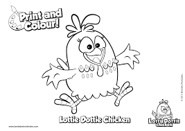 Small Picture Coloring pages Lottie Dottie Chicken Official Website