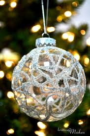 Easy DIY Christmas Ornament Ideas - German Glass Glitter Baubles - Click  Pic for 30 Holiday Craft Ideas Ornaments Ideas