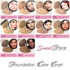 Bare Minerals Original Foundation Color Chart 4pc Full Size Kit Warm Neutral Shade Most Popular W Kabuki Mineral Makeup Matte Loose Powder Bare Face Cosmetics Full Coverage Long Lasting All Skin