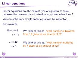 7 linear equations