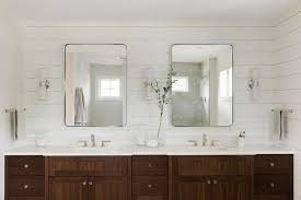coffee stained dual bath vanity