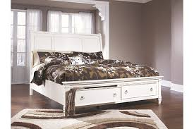 ashley furniture prentice. Prentice Queen Sleigh Bed With Storage White Large Throughout Ashley Furniture
