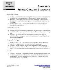 Sample Resume Objective Statements Best 60 Best Resume Objective Examples Jg A60 Resume Samples